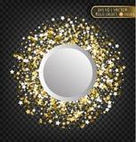 Золото сверкнает на прозрачной предпосылке Предпосылка золота с sparkles E Стоковые Изображения RF
