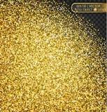 Золото сверкнает на прозрачной предпосылке Стоковое Изображение