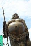 Золото счастливый Будда - в виске Стоковое Фото