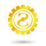 Золото Украина символа Стоковые Изображения