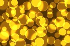 Золото-черное bokeh Стоковая Фотография