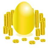 Золото яичка кредита и денег Стоковые Изображения RF
