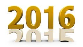 золото 2015-2016 Стоковые Изображения