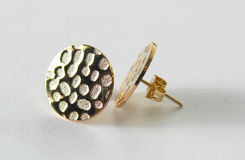 Золото Earings Стоковые Изображения RF