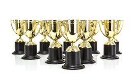 Золото Trophys стоковое изображение rf