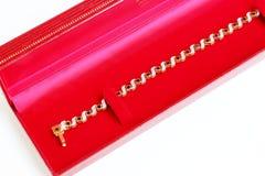 Золотые браслет и самоцвет Стоковая Фотография