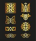 Золотые винтажные флористические элементы для вашего дизайна Стоковое Фото