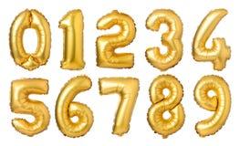 золотые воздушные шары номеров Стоковые Изображения RF