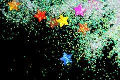 Золотые звезды с ярким блеском Стоковое Изображение