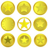 Золотые звезды Стоковая Фотография