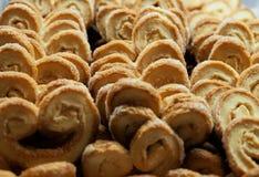 Золотые и хрустящие более palmier печенья Стоковое Изображение RF