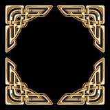 Золотые кельтские углы Стоковое Изображение RF