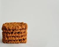 Золотые коричневые печенья Стоковые Изображения