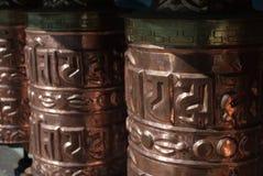 Золотые колеса молитве Стоковое Фото