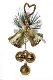Золотые колоколы - украшение рождества Стоковое Изображение