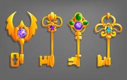Золотые ключи шаржа бесплатная иллюстрация