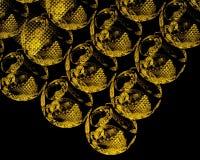 Золотые миры Стоковые Изображения