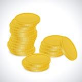 Золотые монетки - иллюстрация Стоковое Фото