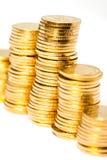 Золотые монетки Стоковое Изображение