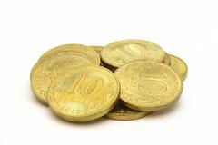 Золотые монетки стоковое фото rf