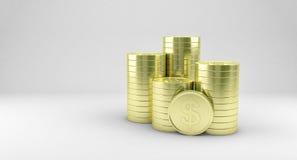 Золотые монетки иллюстрация штока