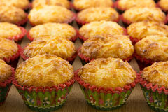 Золотые домодельные Macaroons кокоса Стоковые Фотографии RF