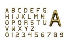 Золотые письма алфавита бесплатная иллюстрация