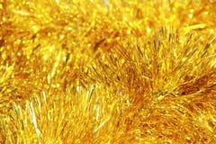Золотые пушистые украшения Стоковое фото RF