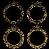 Золотые рамки Стоковые Изображения