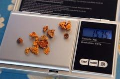Золотые самородки Стоковое фото RF