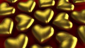 Золотые сердца иллюстрация штока