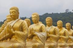Золотые статуи ученика стоковая фотография rf