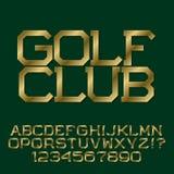 Золотые угловые письма Стильный презентабельный шрифт Стоковые Изображения