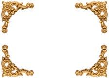 Золотые углы высекаенной картинной рамки стиля барокко Стоковое Изображение RF