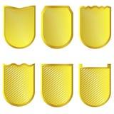 Золотые установленные знаки Стоковое Изображение RF