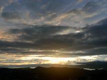 Золотые лучи солнца! Стоковые Изображения
