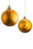 Золотые шарики рождества Стоковое фото RF