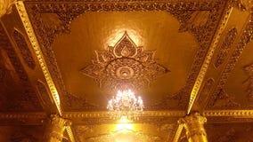 Золотые штендеры на пагоде Shwedagon Стоковая Фотография RF