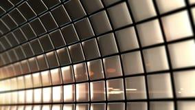 Золотым вращение закрепленное петлей тоннелем сток-видео