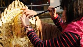 Золочение Будда стоковые фото