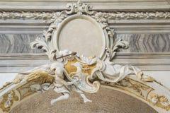 зодчество за классической деталью pillows взгляд Стоковое Изображение