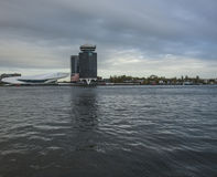 зодчество amsterdam самомоднейшее Стоковое фото RF