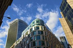 зодчество london самомоднейший Стоковые Фото
