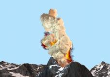 Золы дыма извержения вулкана Стоковая Фотография