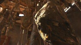 Зрелая ветчина Nuodeng оно было посолено 3 леты и высушенного на воздухе совершенно Еда традиционного китайския стоковые изображения