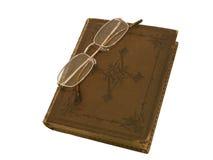 зрелища золота книги старые снабженные ободком Стоковое Изображение RF