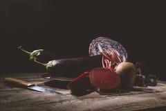 Зрелые овощи на таблице Стоковые Фото
