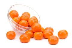 Зрелые tangerines на белой предпосылке Стоковая Фотография RF