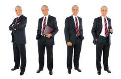 Зрелый коллаж бизнесмена - 4 изображения стоковая фотография