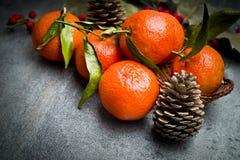 Зрелый оранжевый tangerine Стоковое фото RF